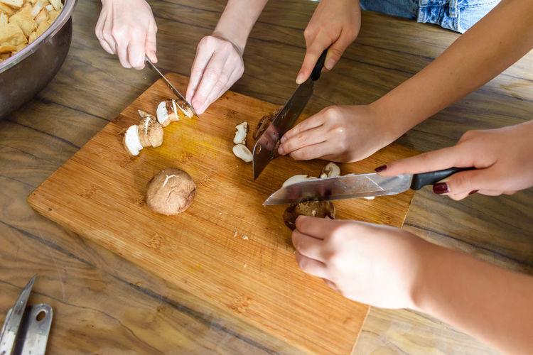 three kitchen