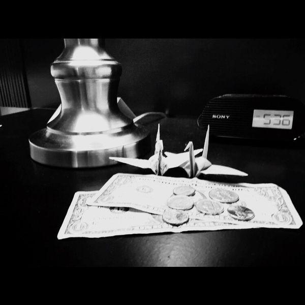 New York Newyorkcity HotelWolcott Origami Japanese  Tsuru Paper Chip