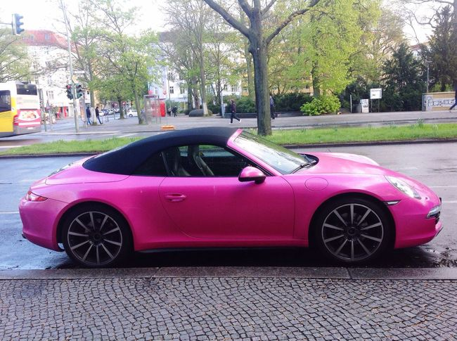 Car Transportation Street Pink Color Porche Eyemcolection Carro Carreira
