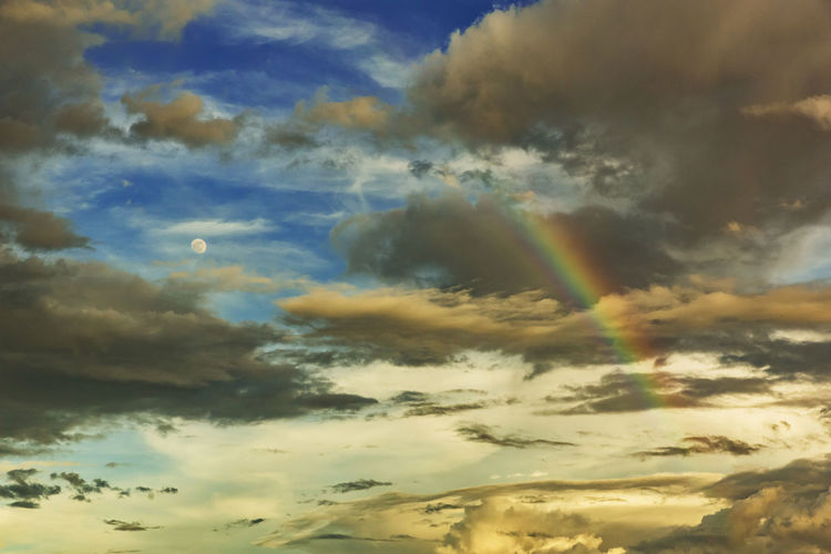Beauty In Nature Cloud - Sky Cloudscape Day Dramatic Sky Idyllic Low Angle View Meteorology Multi Colored Nature No People Non-urban Scene Outdoors Rainbow Scenics - Nature Sky Sunlight Sunset Tranquil Scene Tranquility A New Beginning My Best Photo
