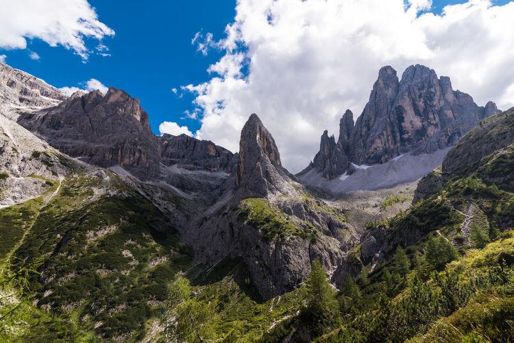 Panoramic view of sesto dolomites