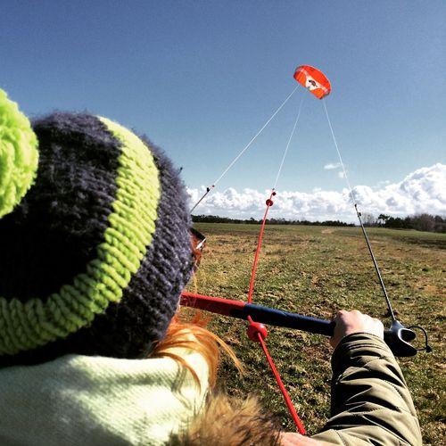 Day Drachen Field Fly Fun Hobbies Kite Kitesurfing Lenkdrachen Outdoors Personal Perspective Sea Sky SP Up
