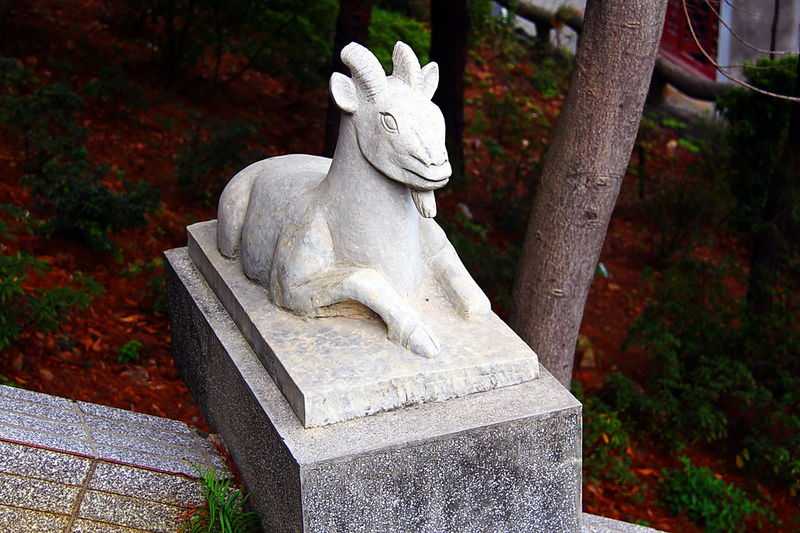 Art And Craft ArtWork Belive CHINESE HOROSCOPE CHINESE HOROSCOPE ANIMALS SIGN Goat GOAT SCULPTURE Stone Carved Temple Stone Carving Tradition Traditional Culture Chinese Zodiac