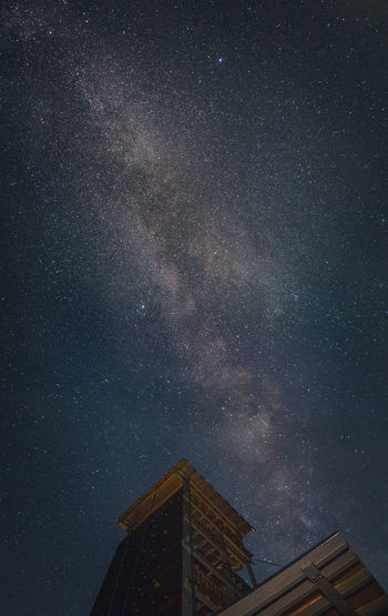 Night with milky way on the sky