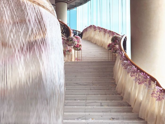 Grand Harbor Hotel Kowloon HongKong Wedding Hotel Kowloon Grand Harbour Railing Built Structure Steps Staircase Steps And Staircases Architecture No People Indoors