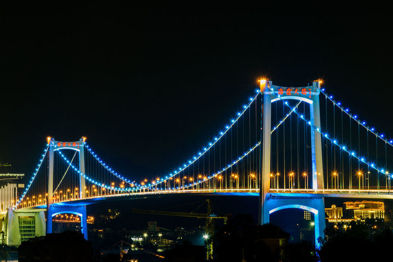 XIAMEN Xiamen Xiamen China Xiamen University Xiamen,China Architecture Bridge - Man Made Structure Building Exterior Built Structure City Connection Engineering Illuminated Night No People Outdoors Sky Suspension Bridge Transportation Travel Destinations Xiamen Photo Xiamen Tu Lou Xiamenair