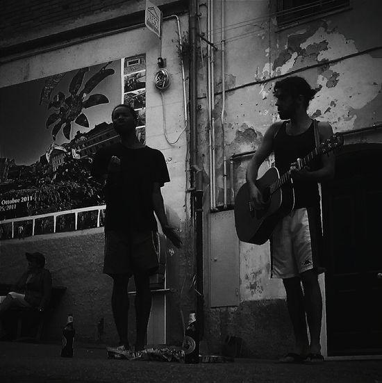 Cinque Terre Streetart Streetsinger Black And White First Eyeem Photo