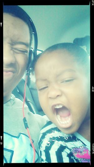 me and my baby being sis crazy