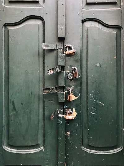 Full frame shot of old door