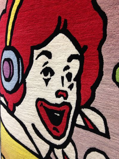 Architecture Carpet Chapman Brothers Close-up Clown Creativity Drawing - Art Product Face Graphic Headphone Human Representation Mc Donald's Mc Donalds Portrait Red The Chapman Brothers Weather Weir