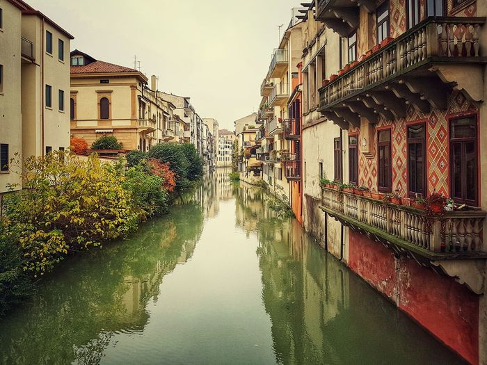 Padua, Veneto, Italy Padova Padua Veneto Italy Italy❤️ Italy🇮🇹 Water Flood City Reflection Sky Architecture Building Exterior Built Structure Canal Residential Structure Building Residential District Residential Building Waterfront Townhouse TOWNSCAPE Historic Exterior