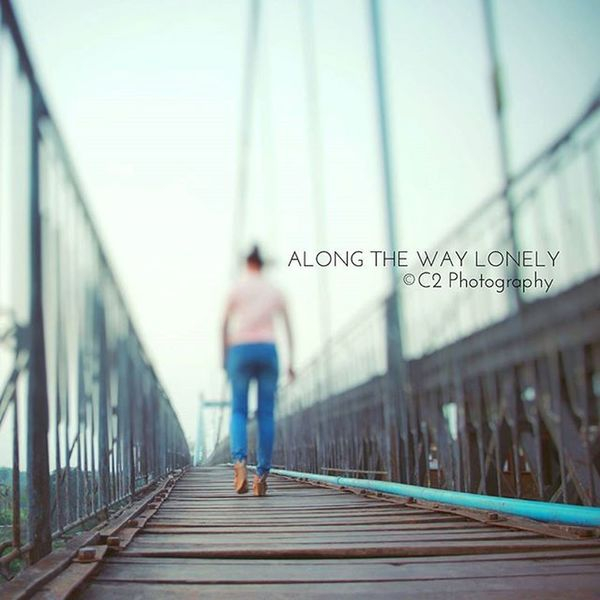 Lonely along the way... Lonely Walk Way Along Alone Girl C2photography Myanmar ASIA Southeastasia Burma Art Bridge