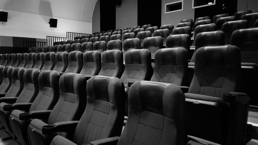 Black And White Friday Seat Chair Auditorium Indoors  No People Day Large Group Of Objects Cinema