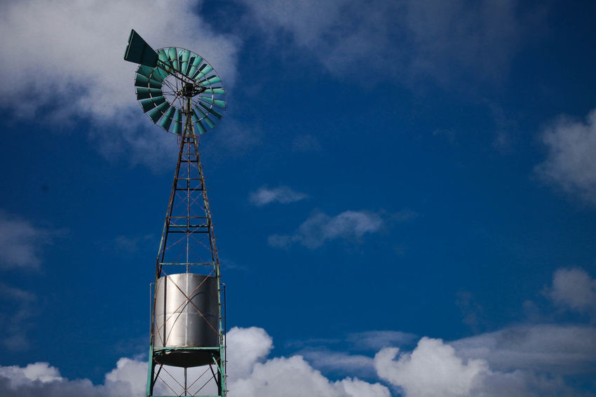 Alternative Energy Cloud - Sky Low Angle View No People Outdoors Renewable Energy Sky Windmill