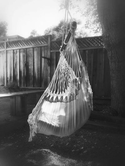 The Spot Blackandwhite EyeEm Best Shots Hammock Swing No People Day Plant
