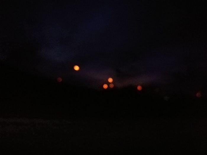 Night Lights In The Car Window
