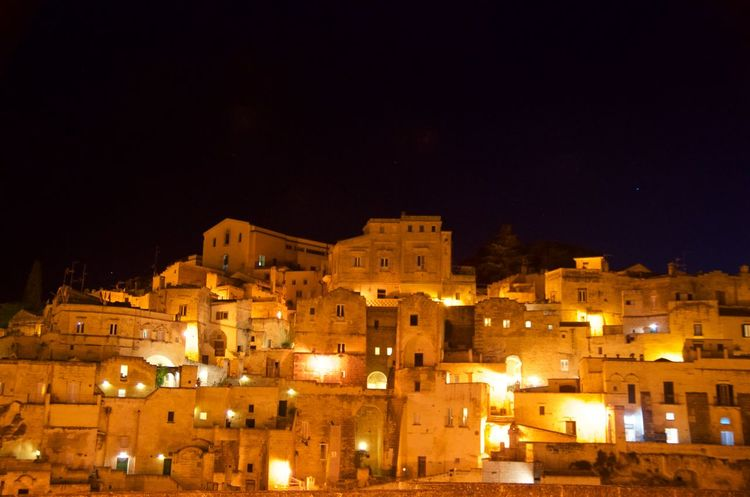 Architecture Building Exterior Built Structure City History Illuminated Italy Matera Night Outdoors