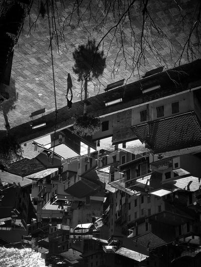 Stranger Cities // Cinque Terre Architecture Built Structure Building Exterior Tree Outdoors Day Residential Building City Roof No People Sky Blackandwhite Upside Down Cinque Terre Italy The Architect - 2017 EyeEm Awards