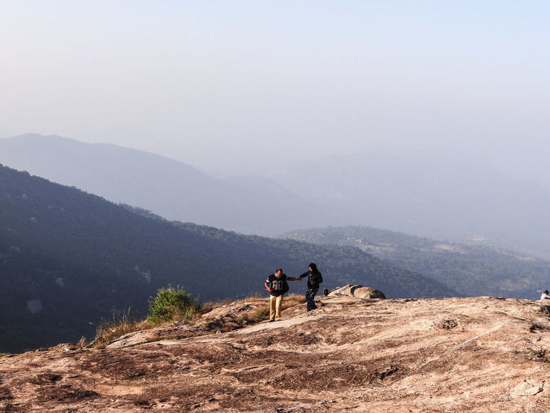MADE FOR EACH OTHER... THE SWEETEST BOND EVER... Adults Only Two People Nature Togetherness People Outdoors Beauty In Nature Day Mountain Adventure Vacations Friendship Bonding Scenics Fog Tranquility A New Beginning