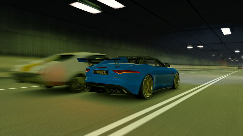 Jaguar F-Type Architecture Blurred Motion Bmw Car City Illuminated Indoors  Land Vehicle Mode Of Transportation Motion Motor Vehicle Moving No People on the move Parking Garage Road Speed Sport Sports Car Transportation Travel