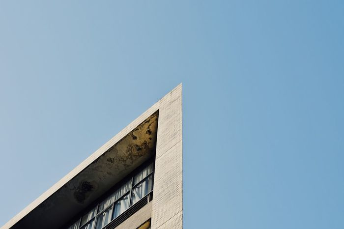 Low Angle View No People Architecture Sky Outdoors Day Look Up Geometry Triangle TIP