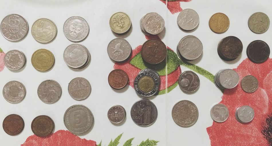 Coins VeryOldCoins Old Coin Collection Old Coin Old Coins Stockphoto Stock