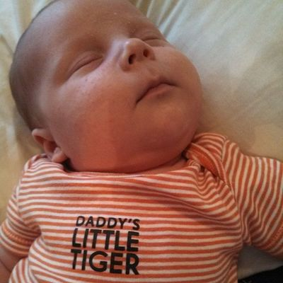 Rainy celebrated being alive for 1 month with several nice naps and lots of milk. Livin' la vita loca!