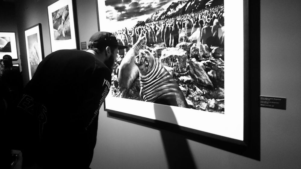 checking out the small things in the picture from Sebastião Salgado. The Moment - 2015 EyeEm Awards What I Value, Bnw_friday_eyeemchallenge