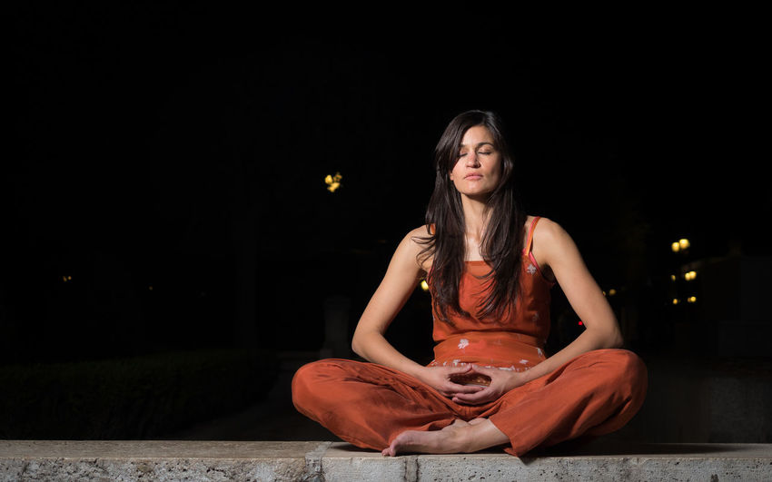 Meditation, looking for enlightenment. Mindfulness concept. Calm Enlight Enlightenment Hands Meditating Meditation Relaxing Soul Spirituality Welfare Woman Yoga Yoga Pose Asana Buddhism Concentration Consciousness Lifestyles Mind  Mindfulness People person Relax Spiritual Wellbeing