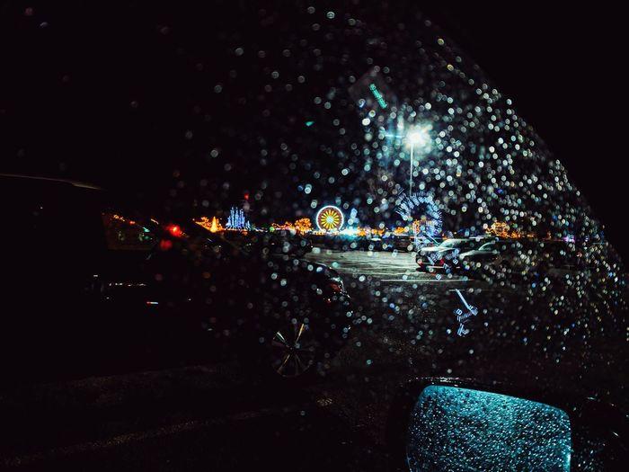 Rainy night at