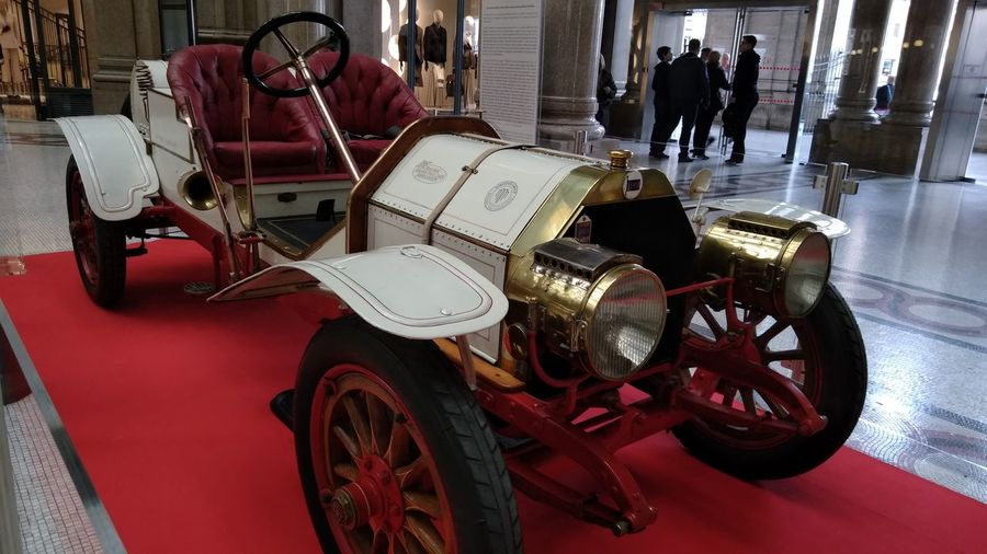 Lancia Epsilon Corsa 1912 Historyphotography Old Machine  Red Car Vincenzo Lancia History Collection Car Vehicle Moving Mode Of Transport
