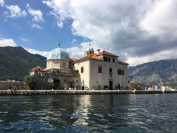 PERAST Our Lady Of The Rocks Montenegro Travel Destination Bay Church