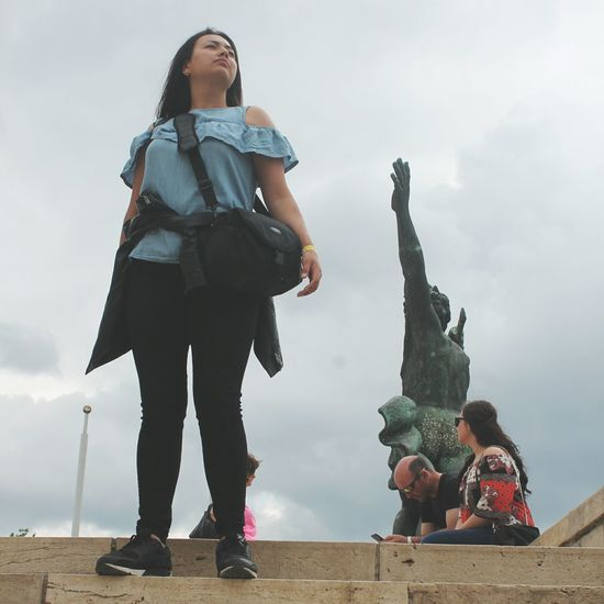 strike a pooooose Hungary Trip EyeEm Selects Friendship Young Women City Full Length Child Togetherness Bonding Women Childhood Girls