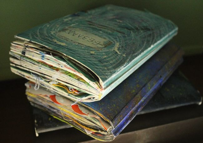 Mess and Wreckthisjournal 💙💚 No People Artjournal Kerismith Books Photo Canon