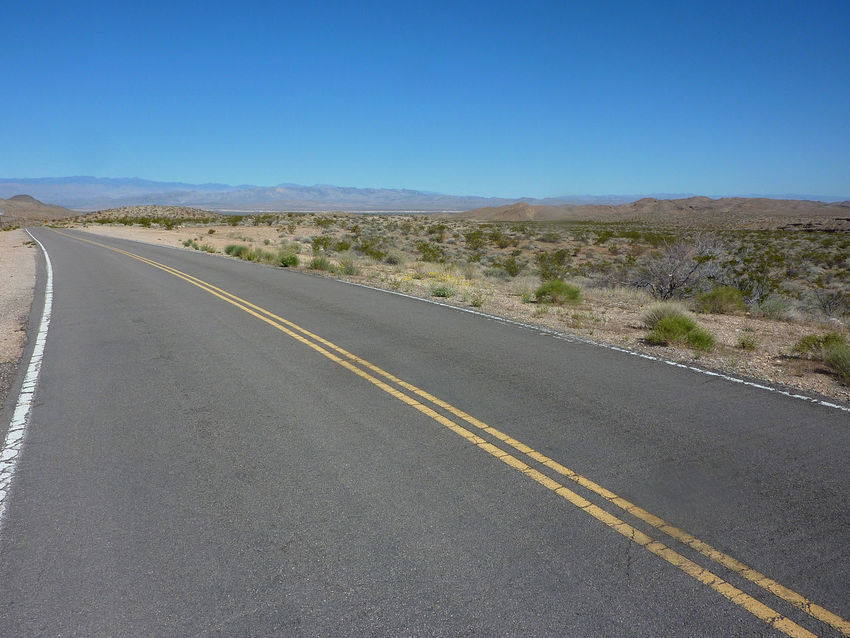 Beauty In Nature Clear Sky Day Desert Desert Road Landscape Nature No People Non-urban Scene Outdoors Road Scenics Sky The Way Forward Tranquil Scene Transportation
