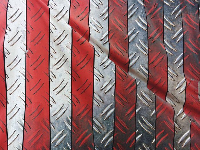 Full frame shot of striped metal