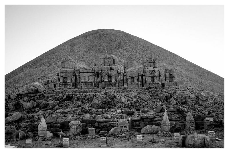 the thrones and the fallen heads Blackandwhite Black & White Travel Photography Landscape at Nemrutdağı , Adiyaman in Turkey
