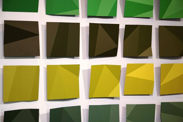 Full Frame Backgrounds Pattern No People In A Row Yellow Geometric Shape