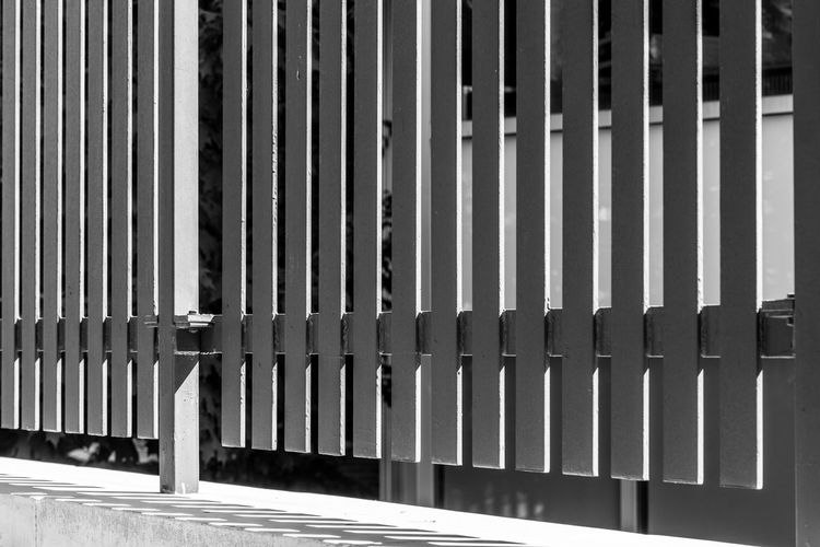 Pattern of Seperation. Black And White Photography Streetphoto_bw Street Photography Light And Shadow Patterns Metal Structure Separation Sony A6000 Project365