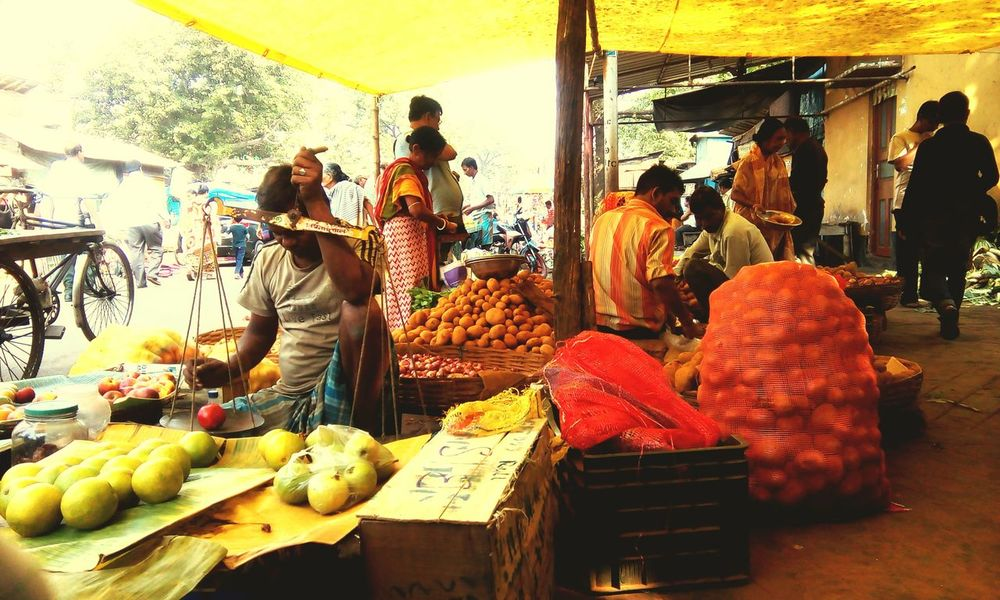 Hi! Good Morning Busy Day Busy Street Market Busy Place Busy People