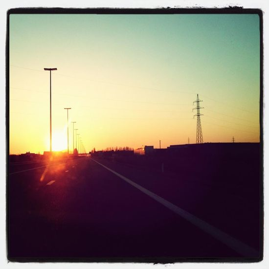 Belgium Great Atmosphere Riding In The Car I'm Off Into The Sunset With My Woman