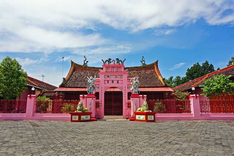 Cu An Kiong Temple Place Of Worship Religion Red Sky Architecture Building Exterior Built Structure