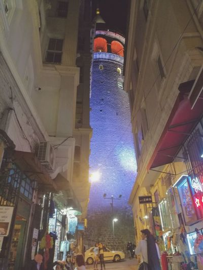 Galata Galatatower Galatakulesi Taksim Beyoğlu Beyoglu-ıstanbul Istanbul People Building Exterior City Night Outdoors Architecture Vacations Travel Destinations Travel Sky Built Structure Turkey Travelling Large Group Of People Blue Cloud - Sky Cityscape City Life