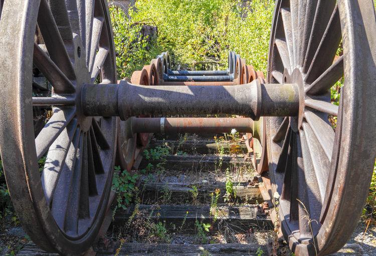 Close-up of wheel