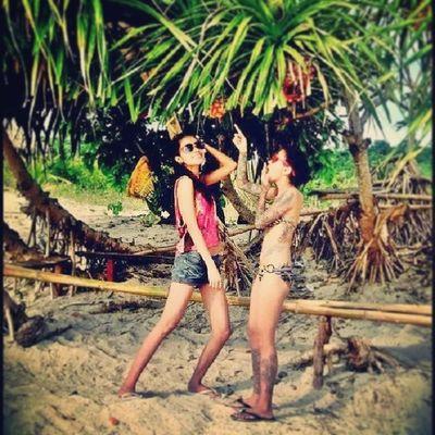 Summerlovin SummerSunshine Calaguas Tattoo slim sisters bikini sand beach love sunnies swag iphoneasia contestgram tagsforlikes picoftheday tumblr