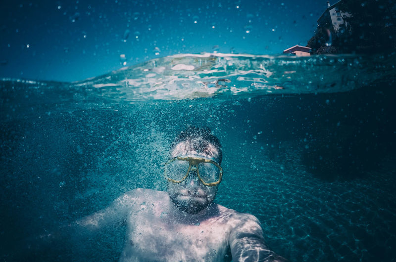 Underwater Water Sea Sport Swimming One Person Aquatic Sport Adventure Swimwear Leisure Activity Exploration Scuba Diving Nature Men Lifestyles Eyewear Portrait Swimming Goggles Underwater Diving UnderSea Snorkeling Swimming Pool Outdoors Greece Me