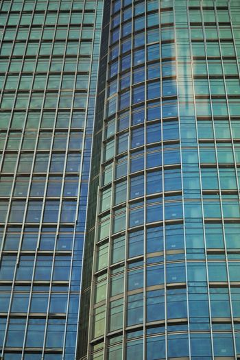 Modern City Skyscraper Backgrounds Full Frame Architecture Building Exterior Built Structure High Rise Building Story Office Block Glass Architectural Detail Tall Tower