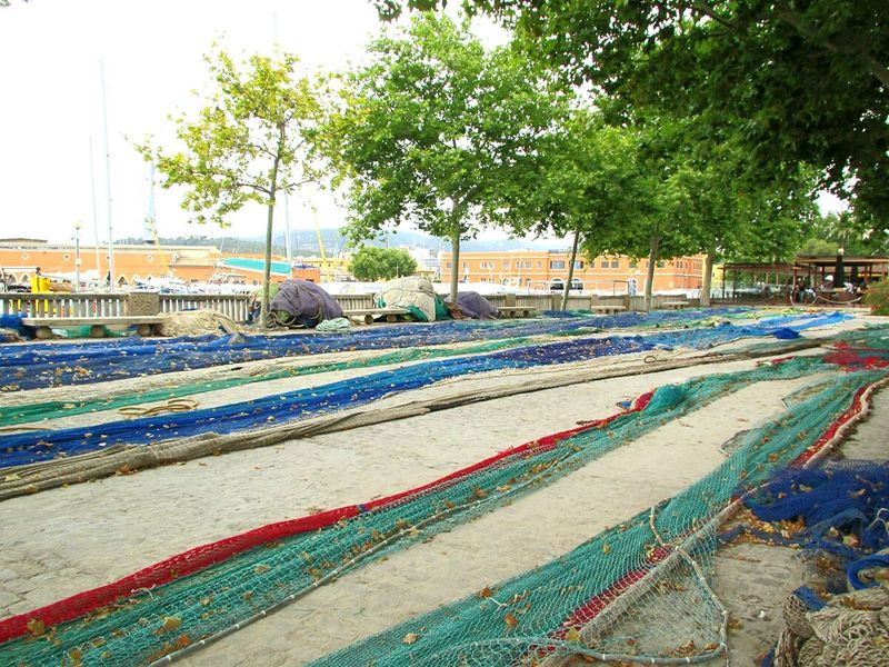 Palma De Mallorca Fischernetz Fishnets CityWalk Promenade Colourful Travel Photography