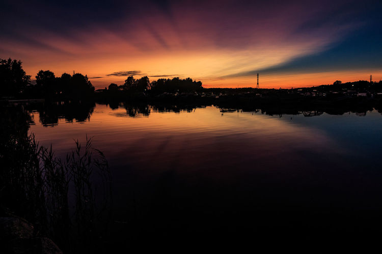 Reflections at sunset. Finland Helsinki Beauty In Nature Landscape Nature Outdoors Reflection Sunset Sunsets Urban Landscape Water