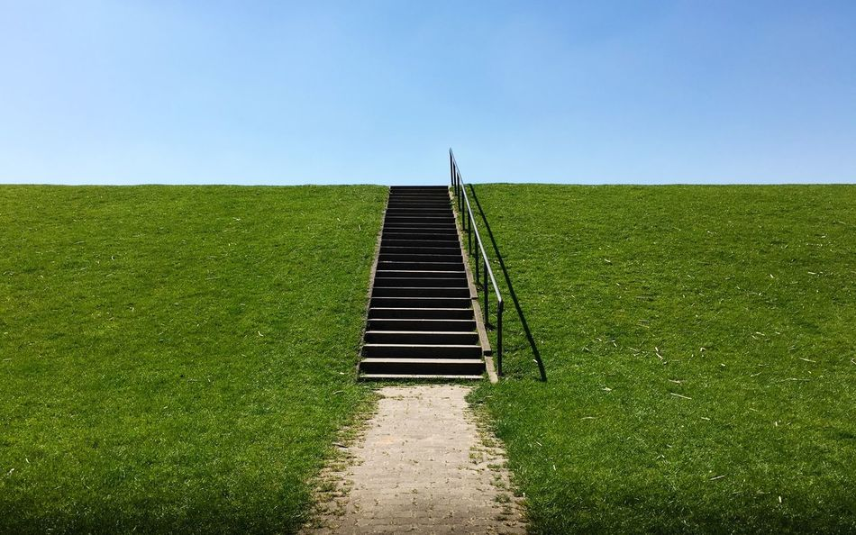 Gateway... Minimalism Baltic Sky Green Color Grass Nature Day Clear Sky Land Copy Space The Way Forward Direction Growth Landscape Environment